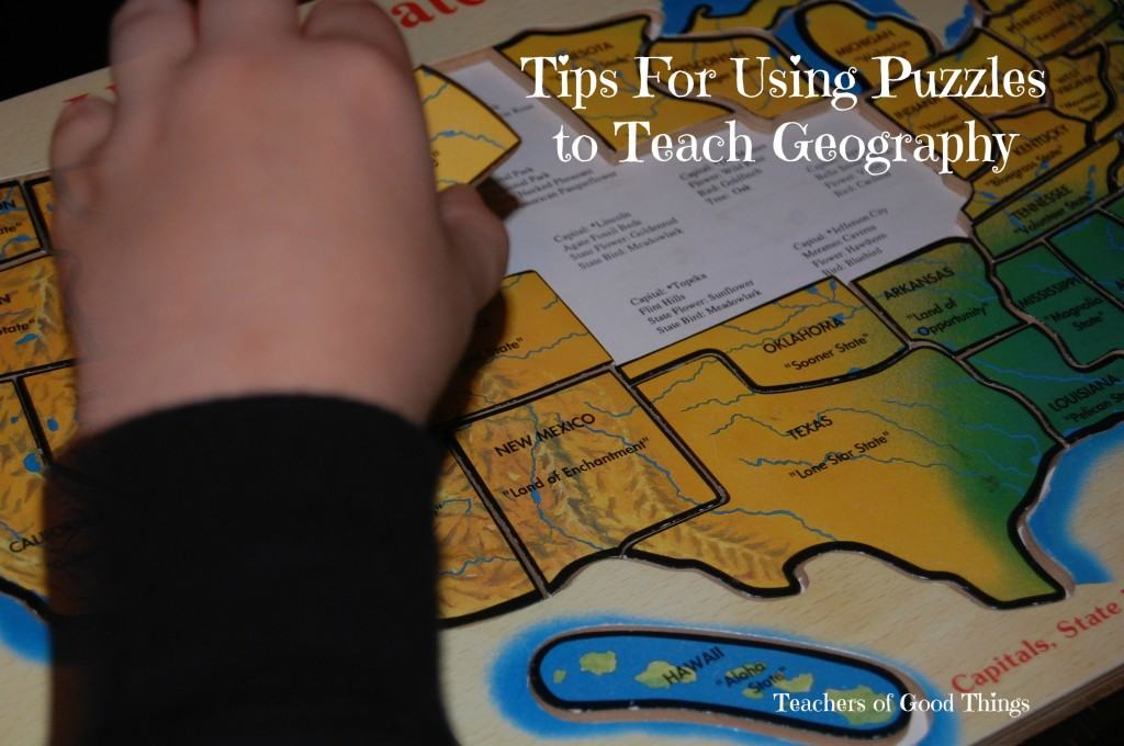 Tips for using puzzles to teach geography