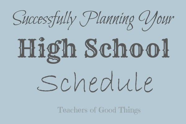 Successfully Plan Your High School Schedule