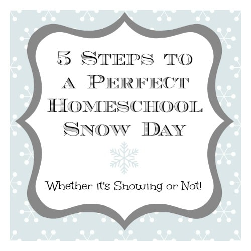 5 Steps to a Perfect Homeschool Snow Day