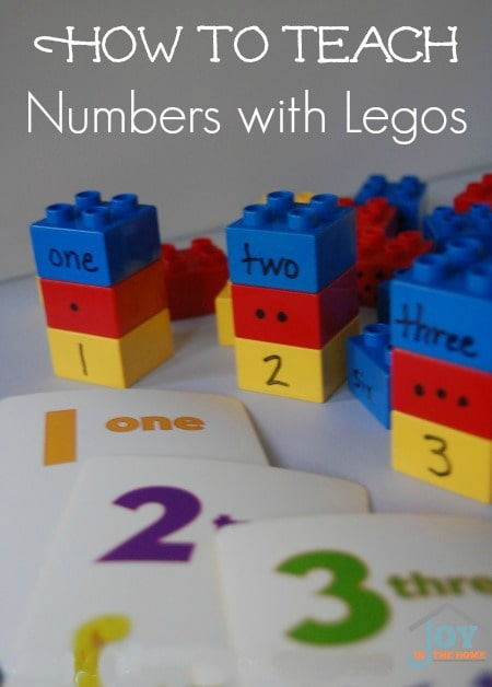 How to Teach Numbers with Legos  | www.joyinthehome.com