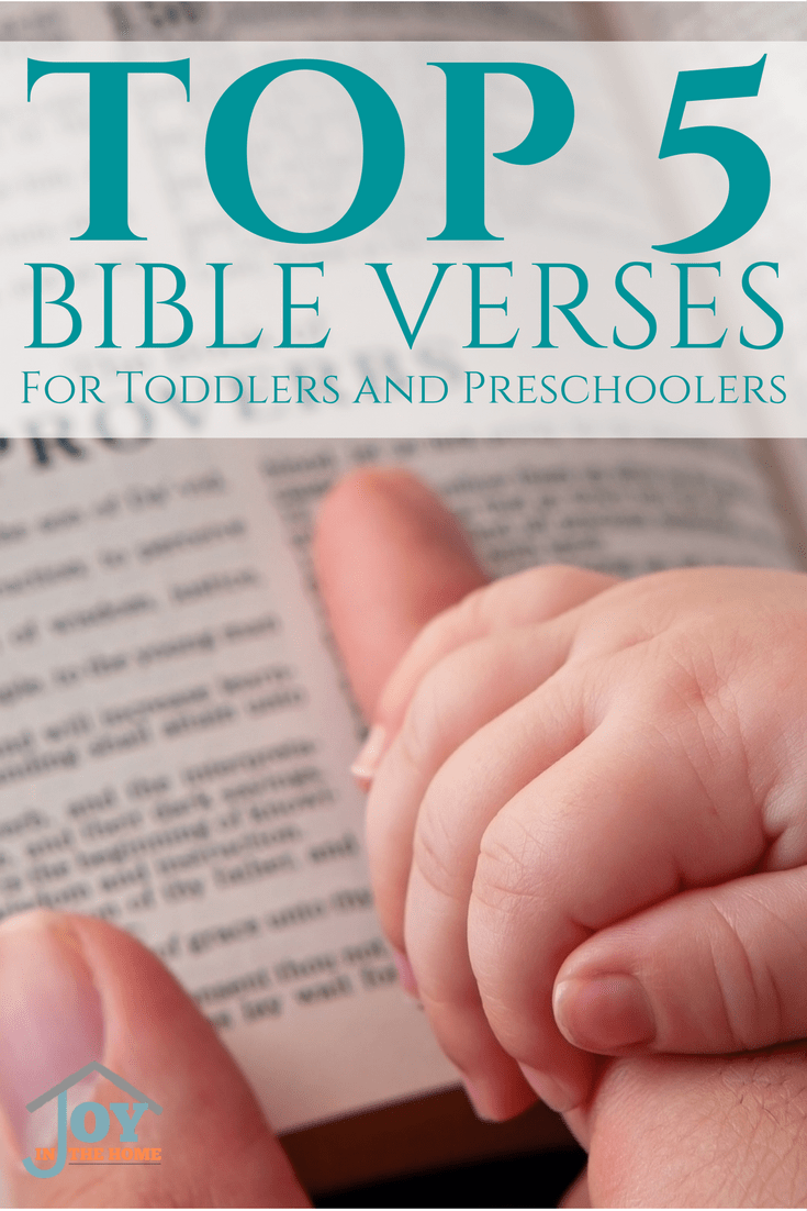 Teach toddlers and preschoolers Bible verses while parenting them to help them overcome things they face on a daily basis.