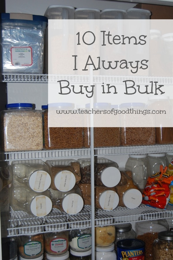 10 Items I Always Buy in Bulk www.joyinthehome.com @Titus2Teacher