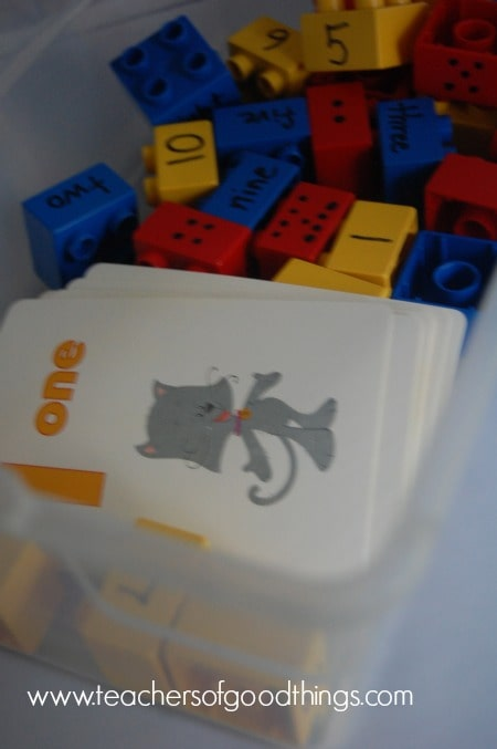 How to Teach Numbers with Legos www.joyinthehome.com