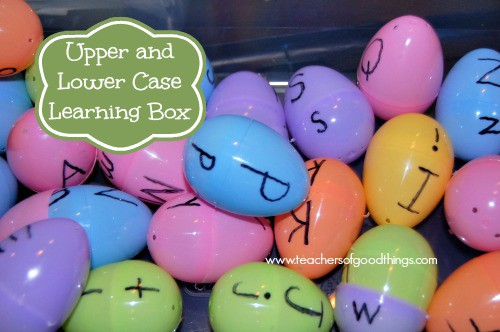 Uppercase and Lowercase Learning Box www.joyinthehome.com
