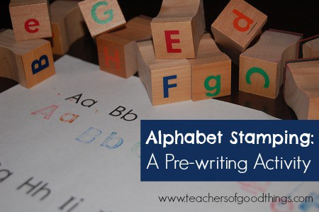Alphabet Stamping: A Pre-writing Activity www.joyinthehome.com