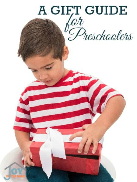 A Gift Guide for Preschoolers - Keep their minds engaged even with gifts! | www.joyinthehome.com