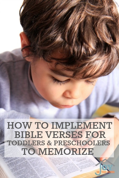 How to Implement Bible Verses for Toddlers and Preschoolers to Memorize