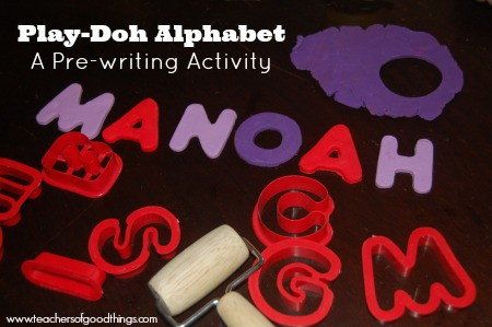 Play-Doh Alphabet: A Pre-Writing Activity www.joyinthehome.com