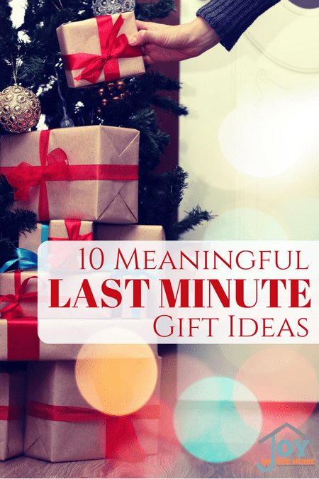 10 Meaningful Last Minute Gifts