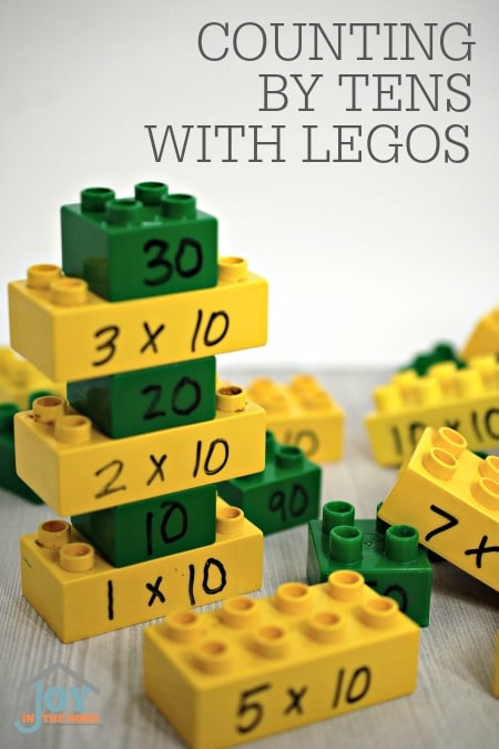 Counting by Tens with Legos