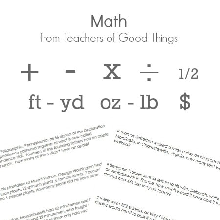 Math from Teachers of Good Things