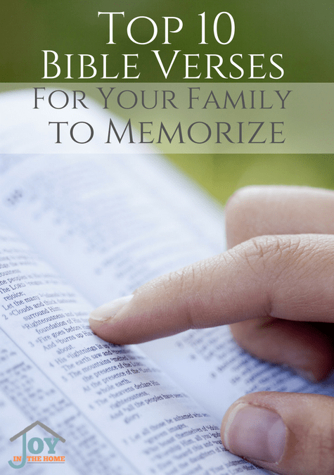 Top 10 Bible Verses for Your Family to Memorize