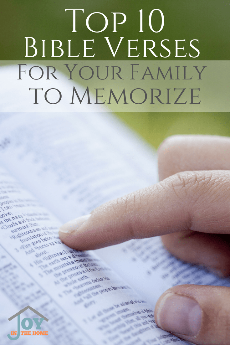Perfect Bible verses for families to memorize for strong faith, and families.