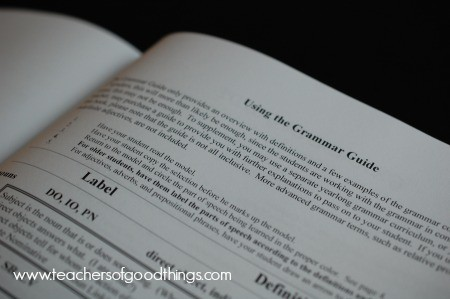 Write From History Grammar Guide www.joyinthehome.com
