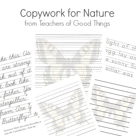 Copywork for Nature from Teachers of Good Things