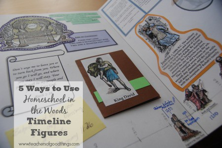 5 Ways to Use Homeschool in the Woods Timeline Figures www.joyinthehome.com