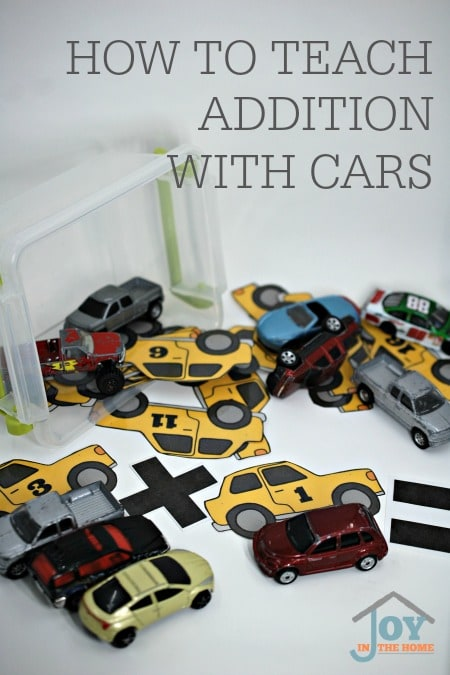 How to Teach Addition with Cars