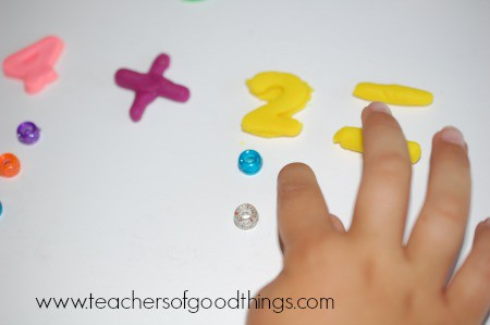Learning Addition with Play Dough three www.joyinthehome.com.jpg