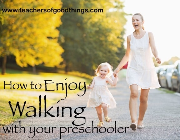 How to Enjoy Walking With Your Preschooler | www.joyinthehome.com