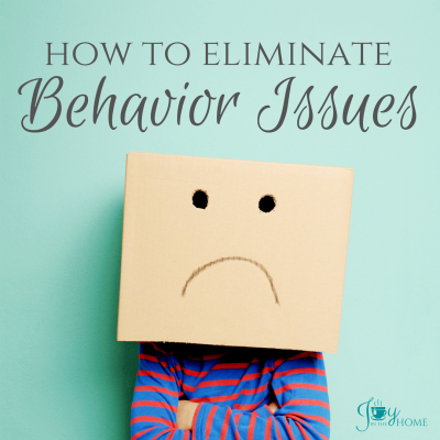 Eliminate Behavior Issues from your child's education