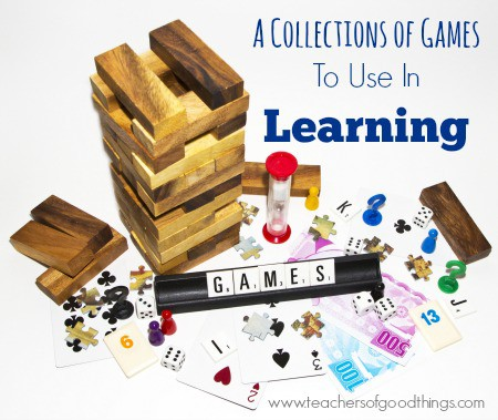 A Collection of Games to Use in Learning | www.joyinthehome.com