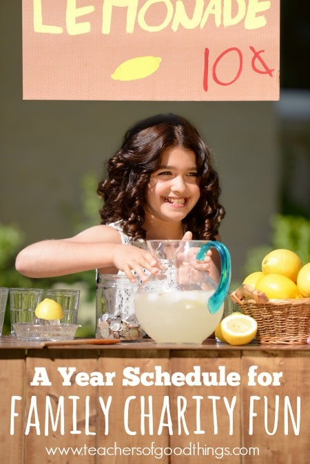 A Year Schedule for Family Charity Fun