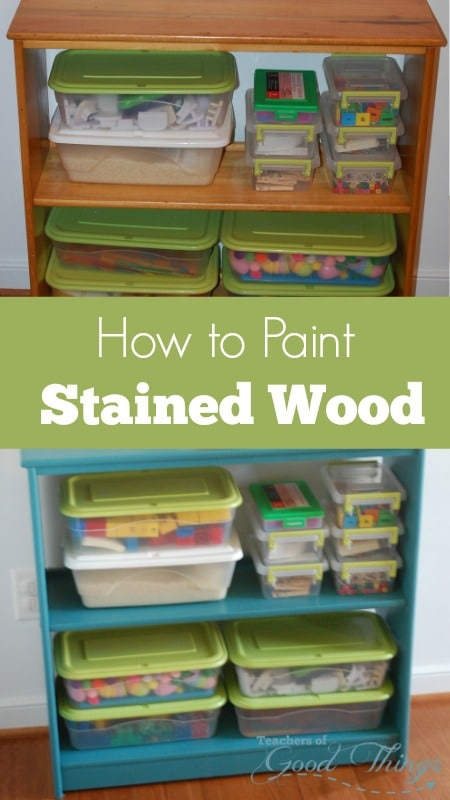 How to Paint Stained Wood