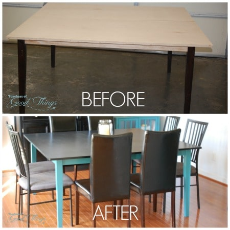 How to Make a Square Table by Repurposing Your Rectangle Table | www.teachersofgodthings.com