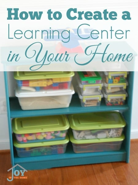 How to Create a Learning Center in Your Home - Making learning boxes accessible for kids will make it easier for them to learn independently. | www.joyinthehome.com