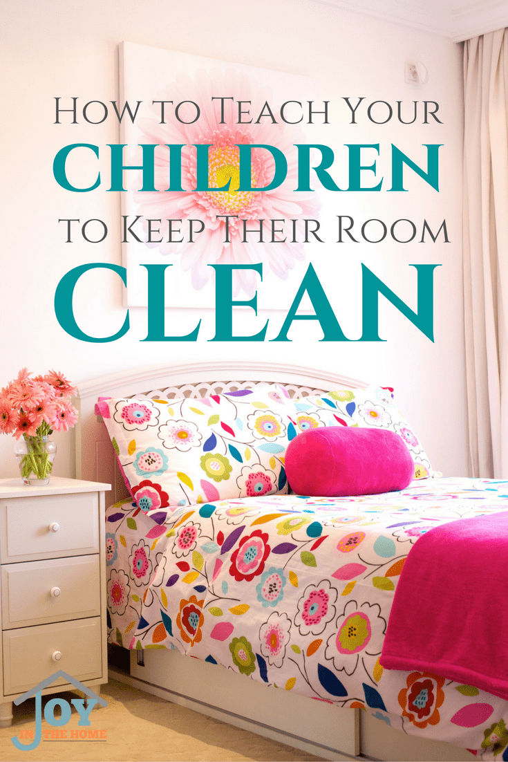 Teaching children to keep their room clean isn't as hard as we parents make it. Just a few easy steps, and consistency will have your children's room clean.