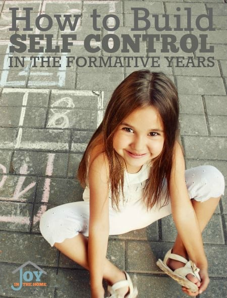 How to Build Self Control In The Formative Years - These tips will help you grow self control in your toddlers and preschoolers. | www.joyinthehome.com