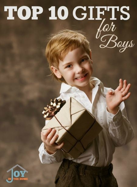 Top 10 Gifts for Boys - Perfect ideas for all year long! | www.joyinthehome.com