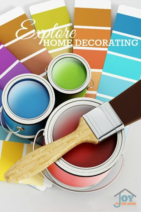Explore Home Decorating - Part of the 31 Days of Exploring Free Afternoon Activities | www.joyinthehome.com