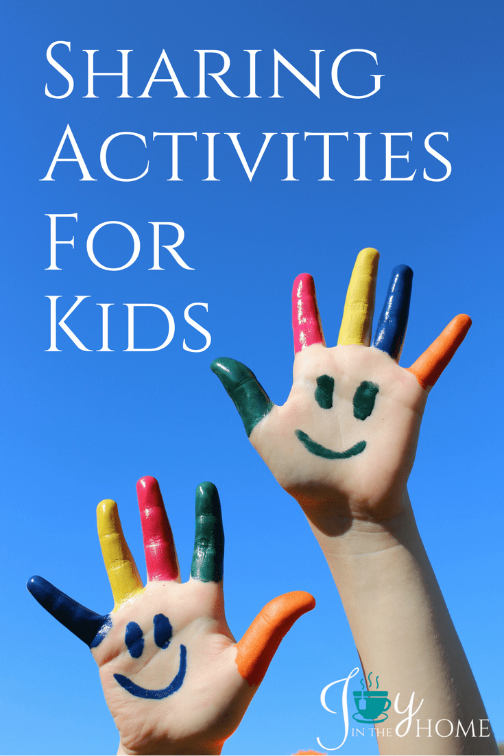 Sharing activities for kids in a way that allows them to understand what sharing looks like, and just how good it can feel to share.