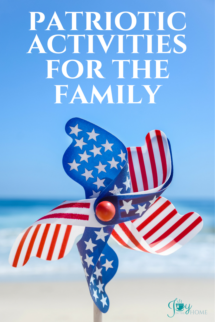 Patriotic activities for the whole family. Ideas for memory making things that will grow patriotic families and family memories all at the same time.