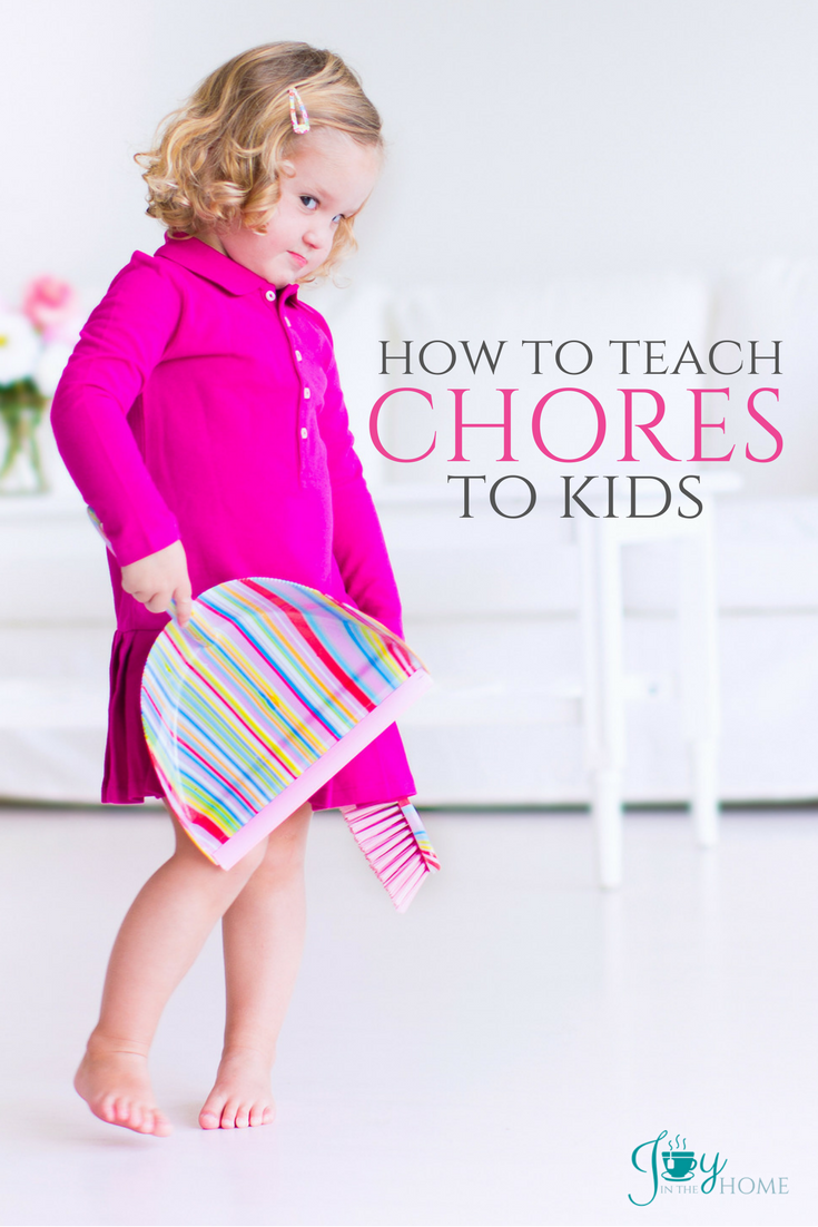 Teach chores to kids with this easy 4-step formula that makes implementing age appropriate chores for kids easier than you might expect.